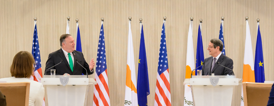 Secretary Pompeo at the Cyprus Center for Land, Open-seas, and Port Security MOU Signing