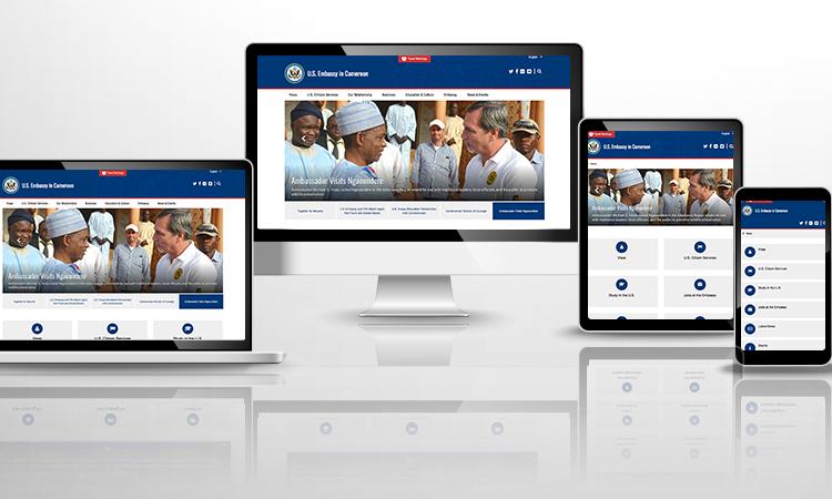 New Embassy Website graphic