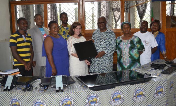 Acting Public Affairs Officer Nitza Sola-Rotger Donates New Equipment to UB American Corner