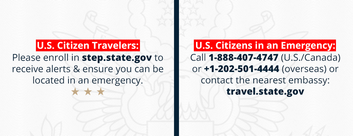 U.S. Citizen Travelers: Please Enroll in STEP