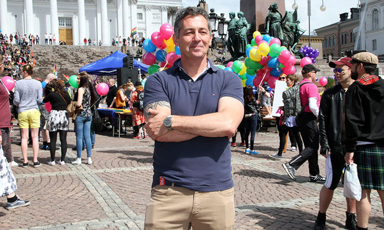 Special Envoy for Lesbian, Gay, Bisexual, Transgendered and Intersexed (LGBTI) Human Rights, Randy Berry during Helsinki Pride. (© State Dept.)