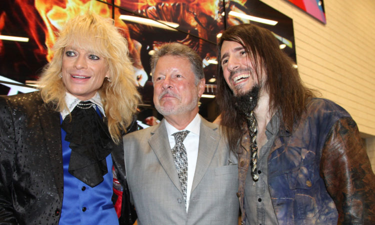 Ambassador Adams with Michael Monroe and Ron Thal (© State Dept.)