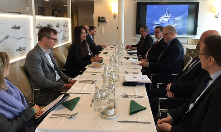 U.S. Trade Negotiator Christina Sevilla in Helsinki. (© State Dept.)