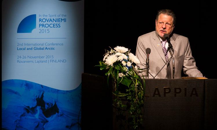 Ambassador Adams in Rovaniemi. (© Marko Junttila)