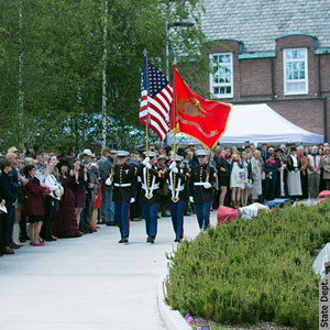 Military color guard with flags | U S  Embassy in Finland