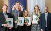 ARC Grant 2017 winners with Assistant Public Affairs Officer Ethan Tabor (© State Dept.)