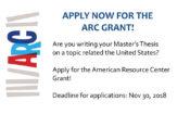 ARC Grant 2018