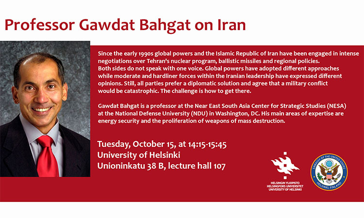 Public lecture: Professor Gawdat Bahgat on Iran