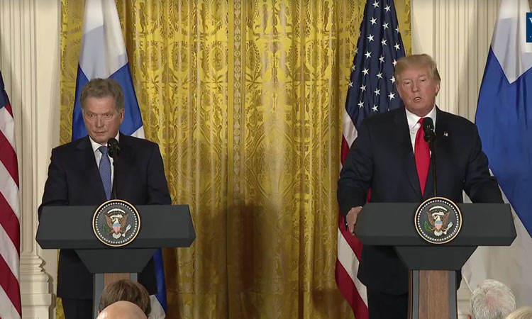 President Trump and President Niinistö Meet in Washington, D.C. (© White House)