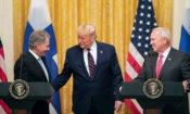 President Niinistö, President Trump, and Ambassador Pence (photo by White House)