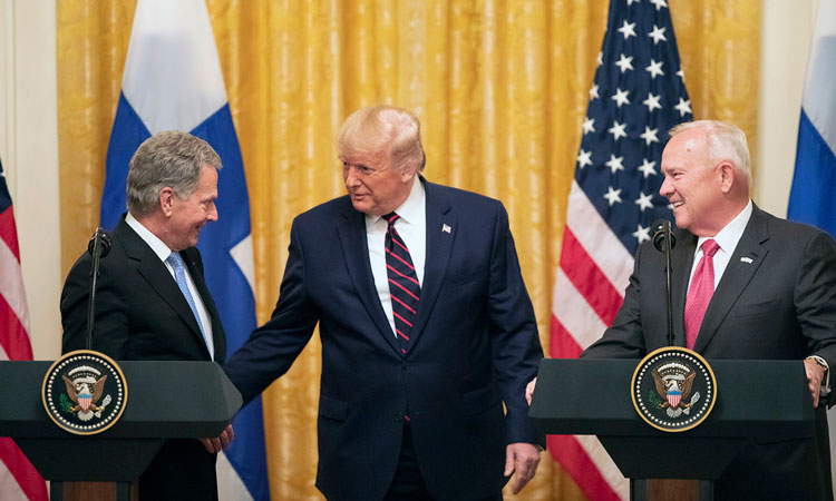 President Niinistö, President Trump, and Ambassador Pence (photo by White House)