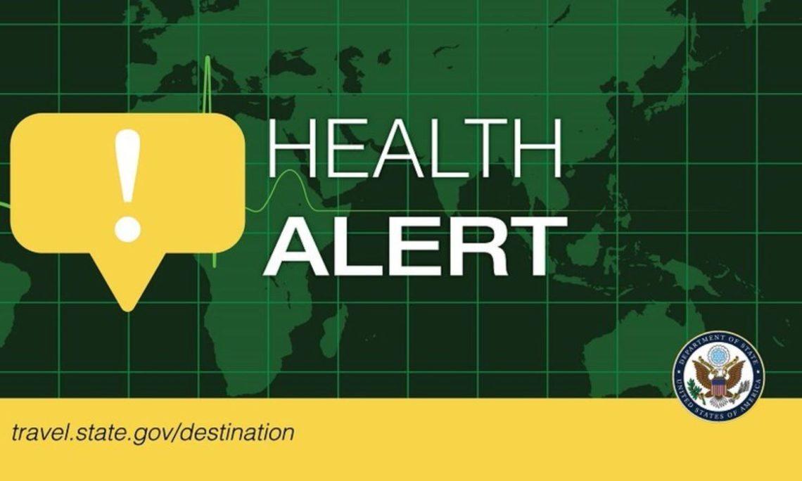 Travel.Gov health alert