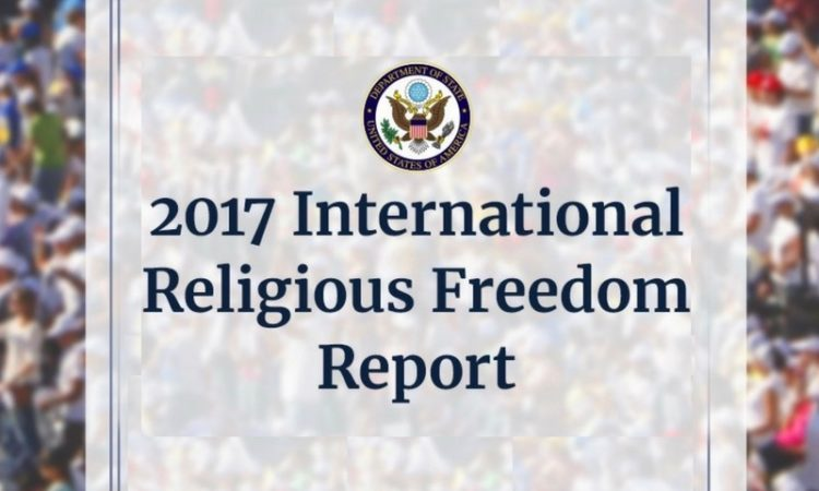 2017 International Religious Freedom Report cover (© State Dept.)
