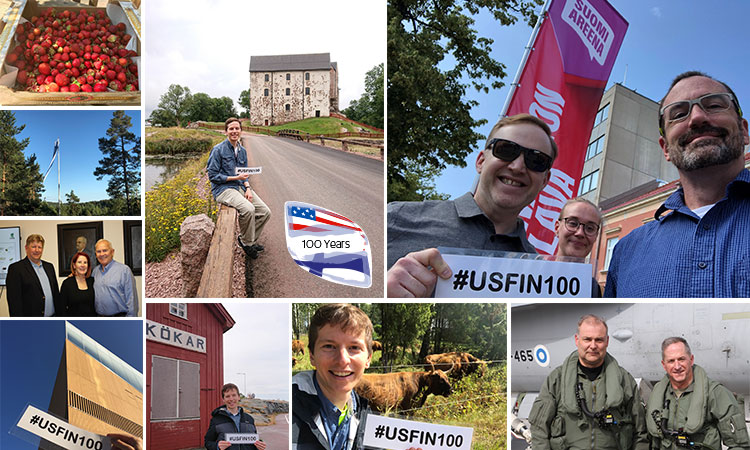 Celebrating 100 Years of U.S.-Finnish Diplomatic Relations by Visiting 100 Places / July-August 2019 (© State Dept.)