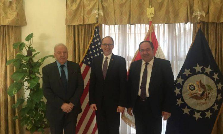 Ambassador Silliman with MP Salim Juma'a Shabak and MP Dr. Hunain Al Qadu