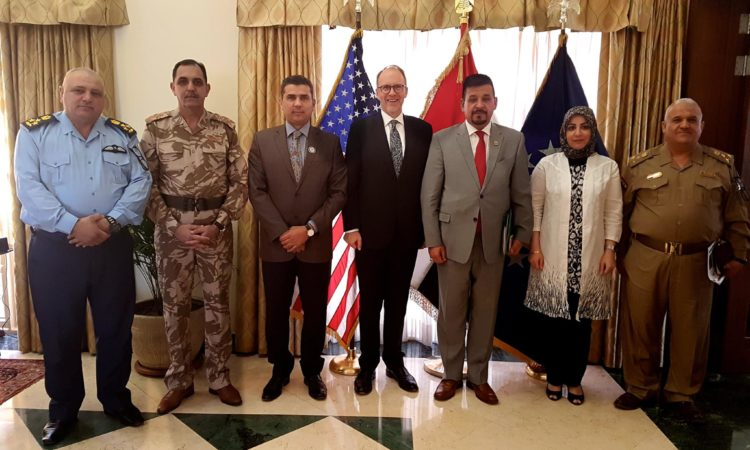 Ambassador Douglas Silliman with Iraqi Spokespersons