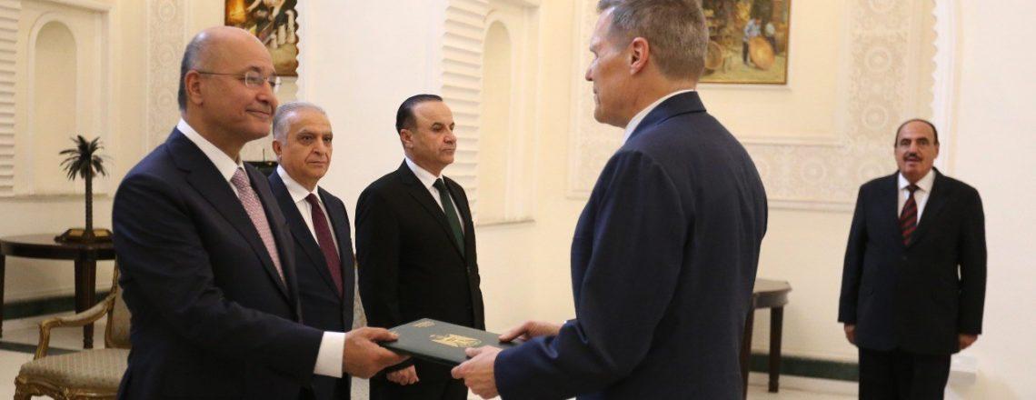 Ambassador Matthew Tueller Presents His Credentials To The Government of Iraq