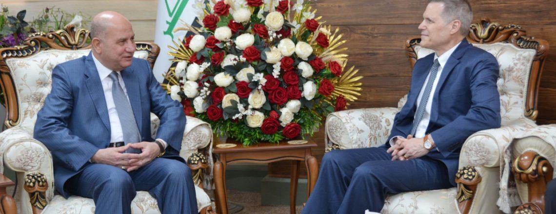 Ambassador Tueller meets with Iraqi Minister of Justice Faruq Amin Shwani