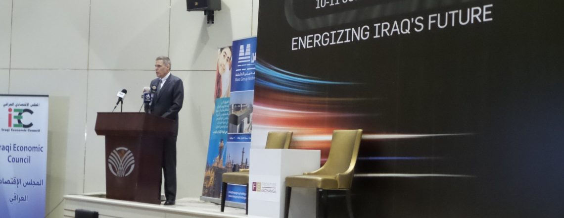 Ambassador Tueller at the 2019 Powering Iraq Conference