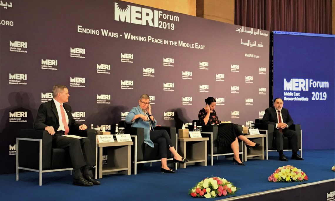 Ambassador Tueller at the Middle East Research Institute's 2019 Forum 75241071_1004492649886754_4503410640219537408_o-1140x684