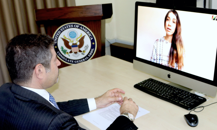 CG and Nadia Murad Virtual Meeting
