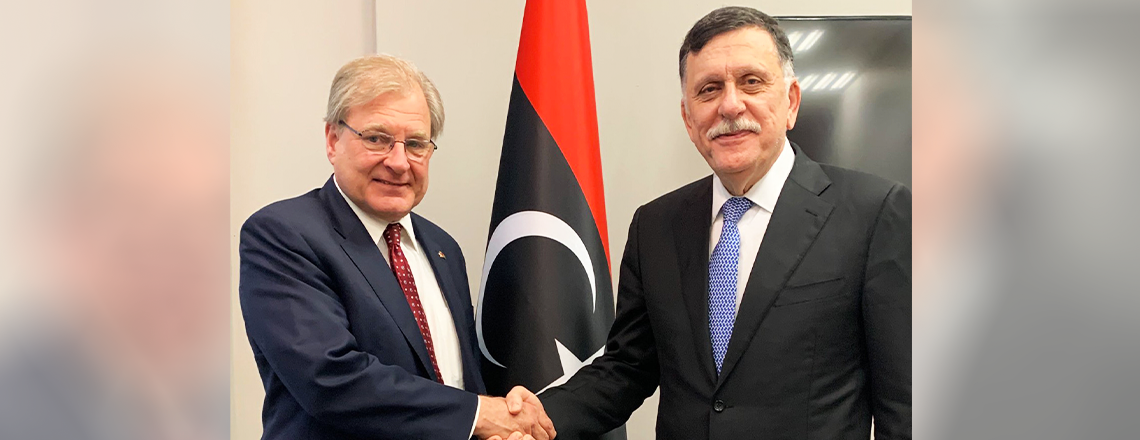 Ambassador Norland's Recent Meeting  with PM Sarraj