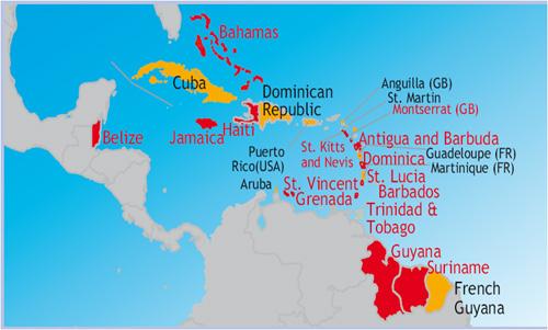 500cdccaribbeanmap Us Embassy In Barbados The Eastern Caribbean - Us-caribbean-map