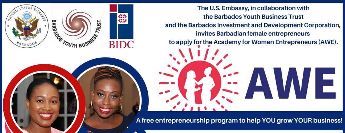 Apply for the Academy for Women Entrepreneurs (AWE) Barbados Program