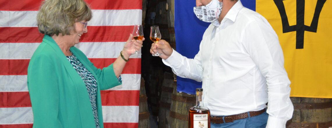 Ambassador Toasts Inauguration at Mount Gay