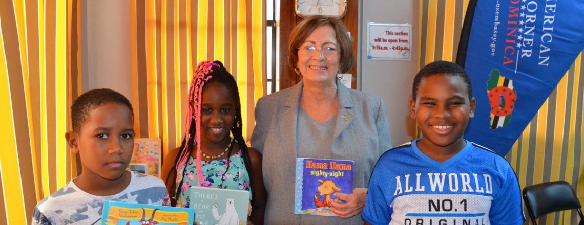 United States Embassy Donates Books to the Dominica Public Library