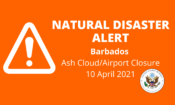 Natural Disaster Alert Barbados Webpage