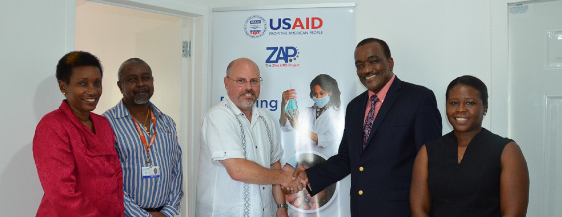 US GOVERNMENT HANDS OVER INSECTARY TO MINISTRY OF HEALTH