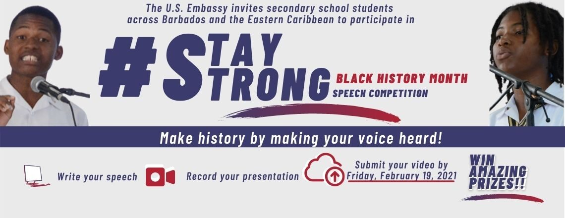 #StayStrong Black History Month Speech Competition