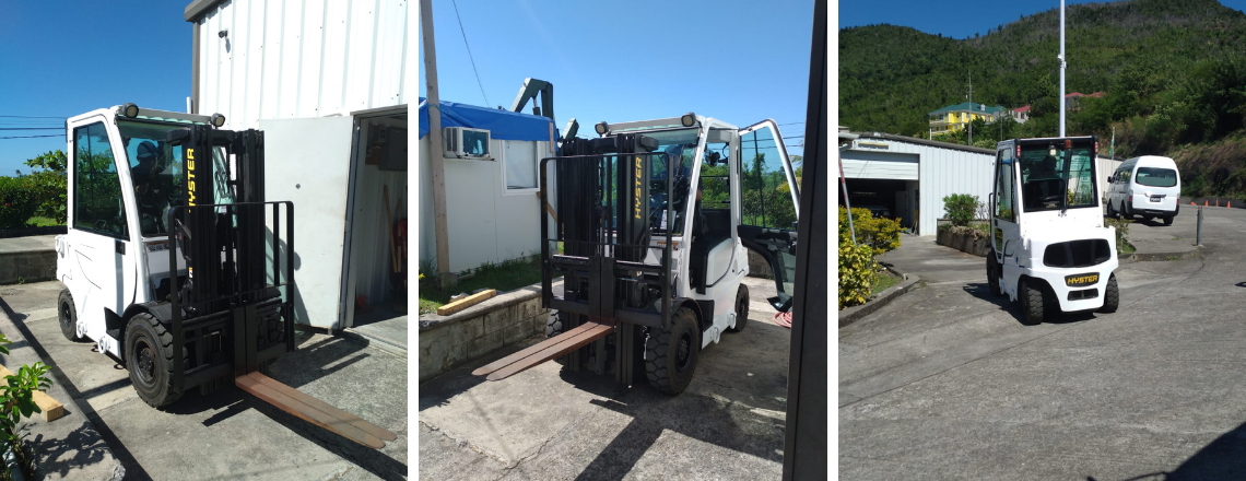 U.S. Provides Forklift to Dominica's ODM