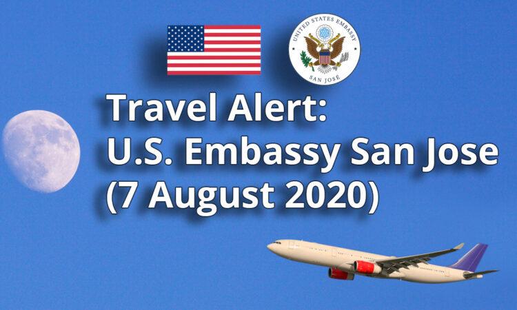Travel Alert -August 07, 2020