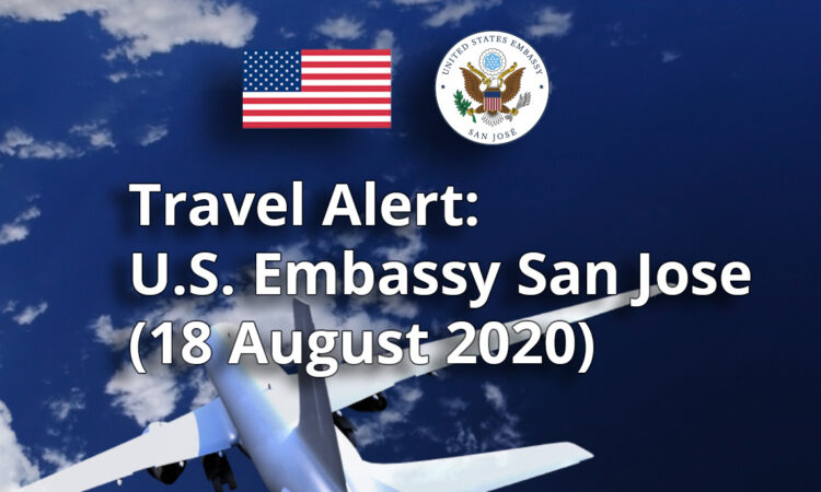 Travel Alert (August 18, 2020)