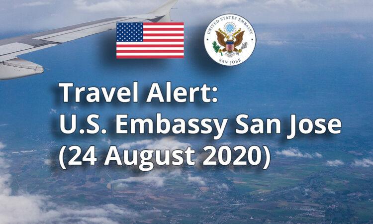 Travel Alert -August 24, 2020