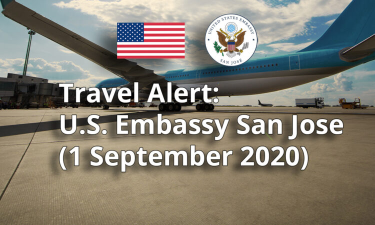 Travel Alert - September 1, 2020