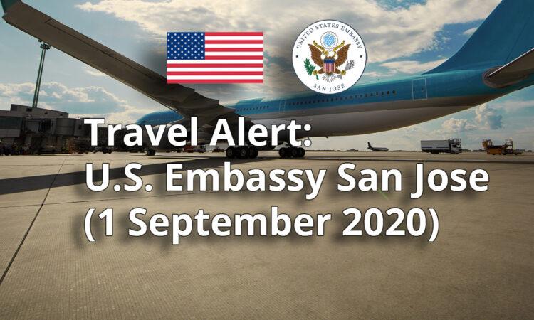 Travel Alert - September 1, 2020