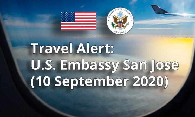 Travel alert / 09-11-2020