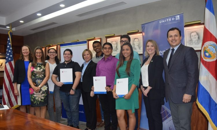 Six Costa Rican students win scholarships to study in United States