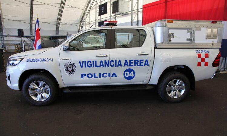 La Unidad Canina del Servicio de Vigilancia Aérea (SVA) tiene ahora dos nuevos vehículos para transportar los siete agentes caninos que conforman la unidad.