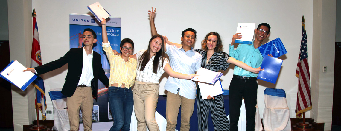 Six Talented Costa Ricans Will Study for Two Years in the United States