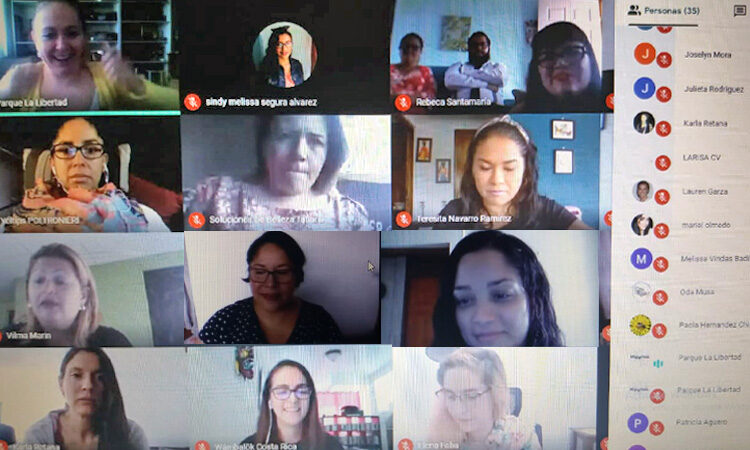 women's group collage during a virtual conference