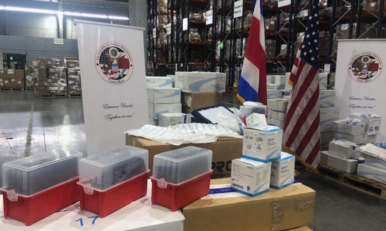 Estados Unidos dona suministros de laboratorio a la CCSS
