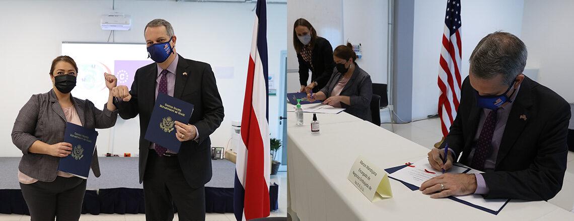 Estados Unidos y Costa Rica compartirán información sobre visas
