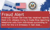 Fraud Alert – U.S. Embassy San Jose