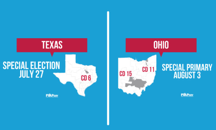 RESIDENTS OF TEXAS AND OHIO: UPCOMMING SPECIAL ELECTIONS