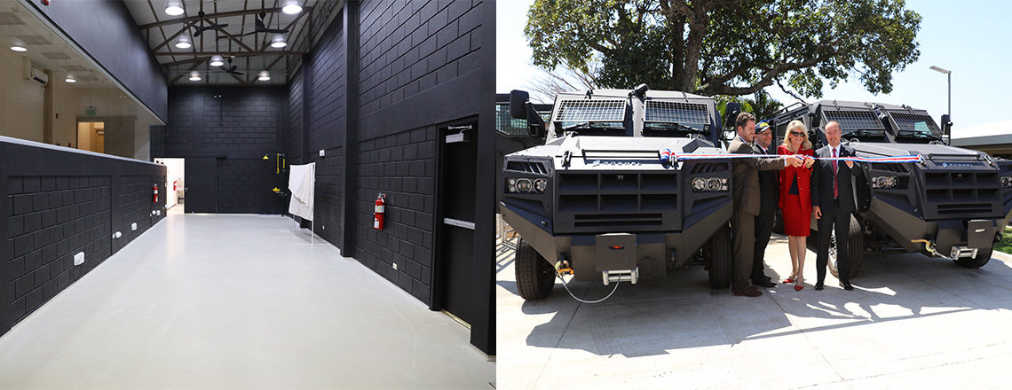 U.S. Embassy Donates Building and Armored Vehicles to Costa Rican Police Force