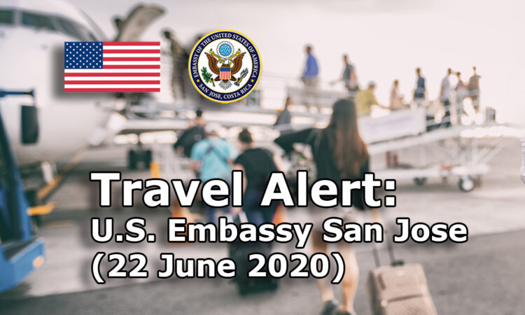 Travel Alert (June 22, 2020)